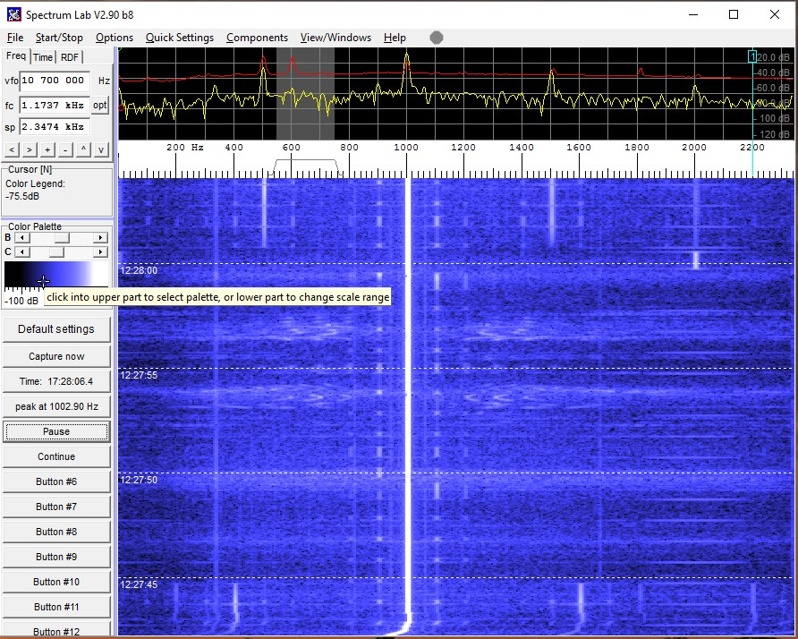 Radio @ 10mhz, in DATA-USB mode