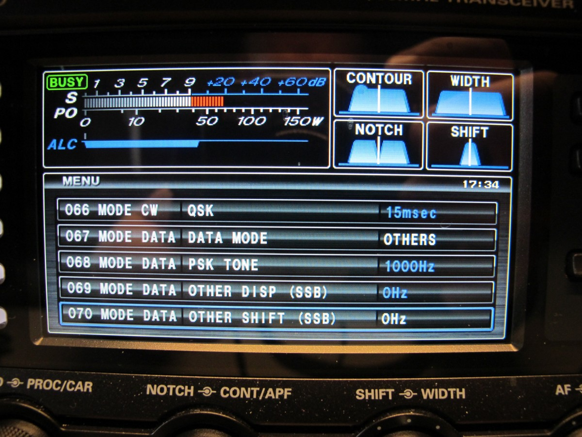 Radio setup detail