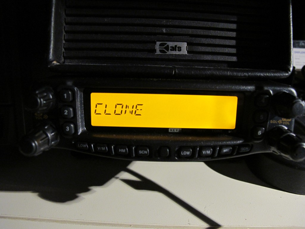 Front panel of FT-8800R
