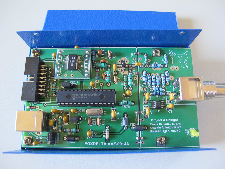 Image of the component side view of the completed board