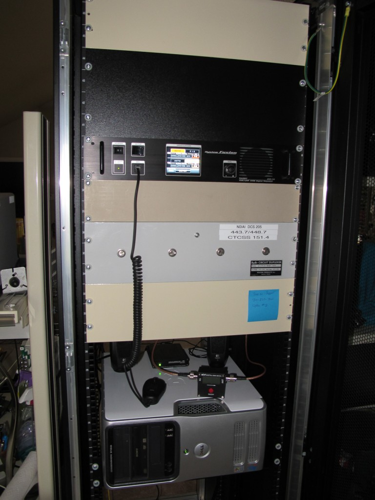 The old DR1X setup, using an old Dell for the node.