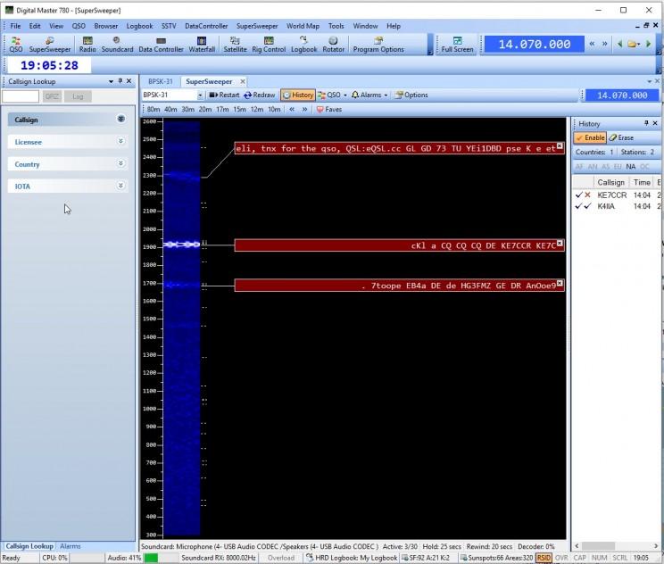 Full audio width