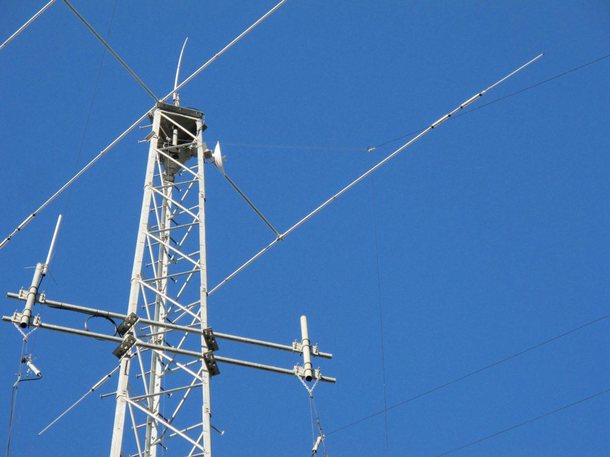 Looking at antenna